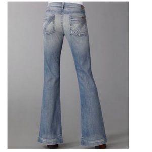 7 For All Mankind Crystal Wide Leg Dojo Jeans